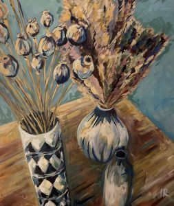 Vases and Grasses