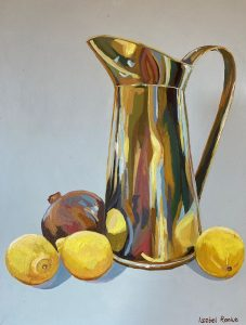 Brass Jug with Fruit